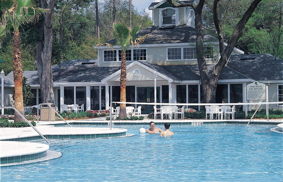 Swimming pool at the Oak Plantation, Kissimmee, Florida