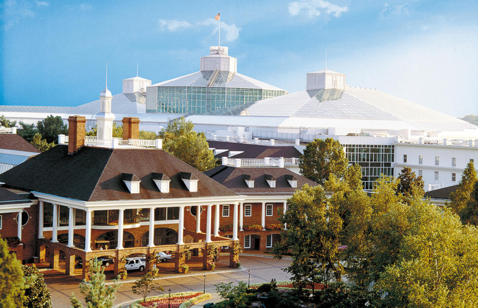 Exterior of Gaylord Opryland Resort, Nashville Tennessee.