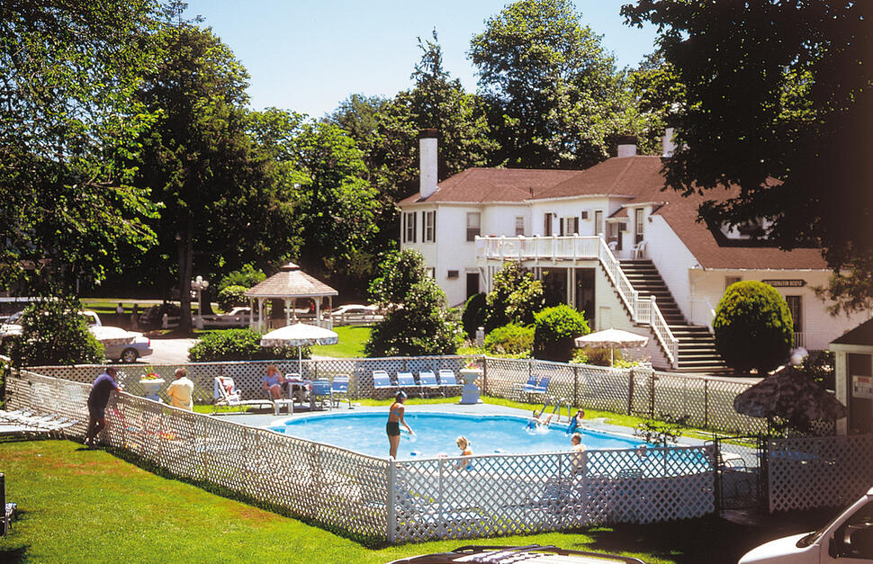 Outdoor pool at the Shoreway Acres Inn, Falmouth Massachusetts.