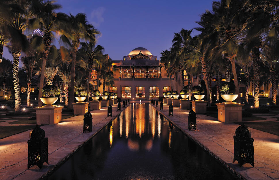 The Palace Esplanade, Night shot, One&Only Royal Mirage, Dubai, Middle East