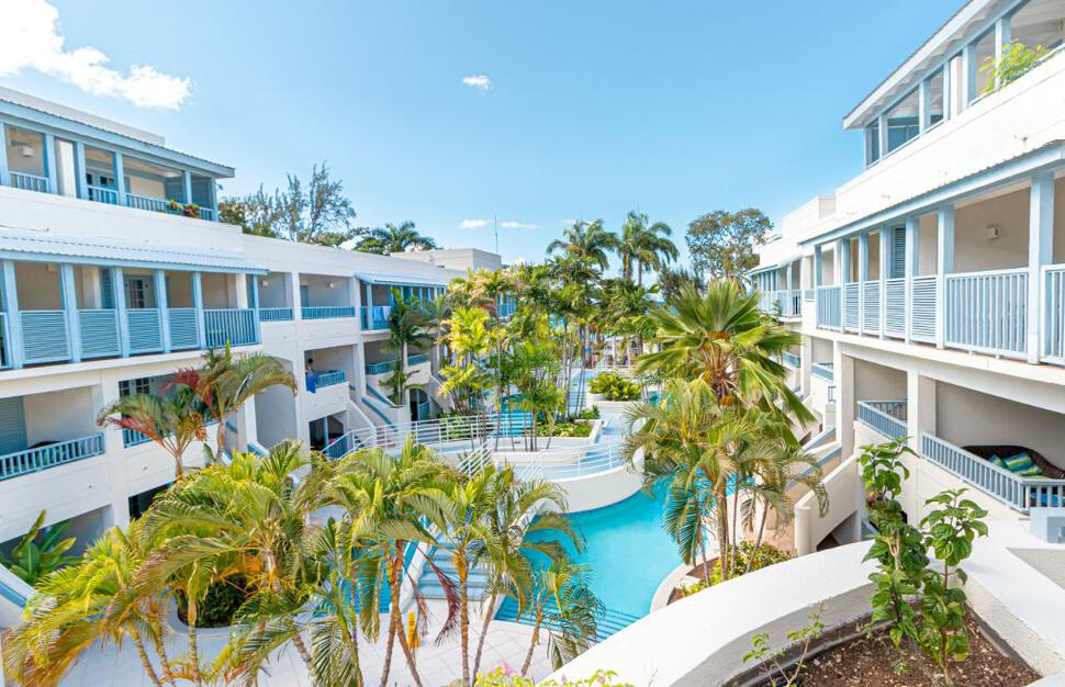 Internal courtyard at Savannah Beach