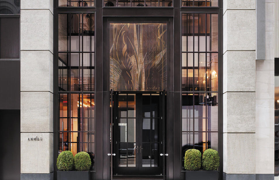 Front entrance, Andaz 5th Ave, New York City