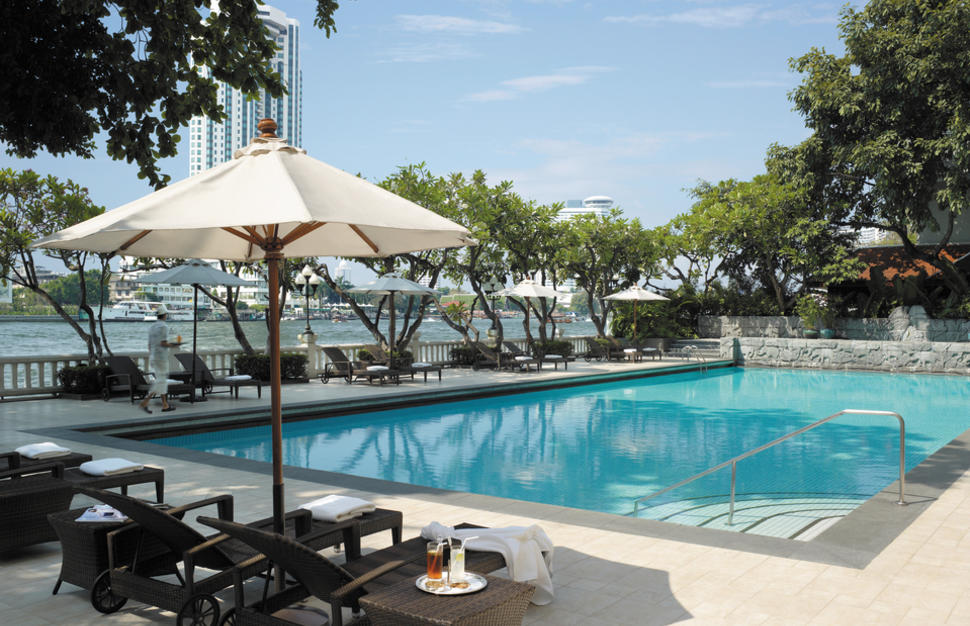 Swimming Pool in the Krungthep Wing, exclusively for Krungthep Wing guests, at Shangri-La Bangkok, Thailand
