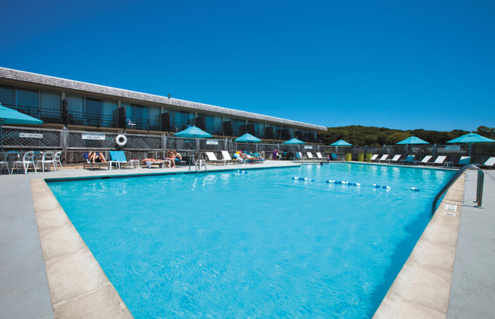 Swimming pool, Harbor Hotel, Provincetown, Cape Code, Massachussetts, East Coast, USA