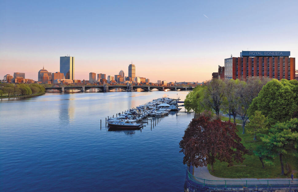 Located on the Charles River, Royal Sonesta Boston, East Coast, USA